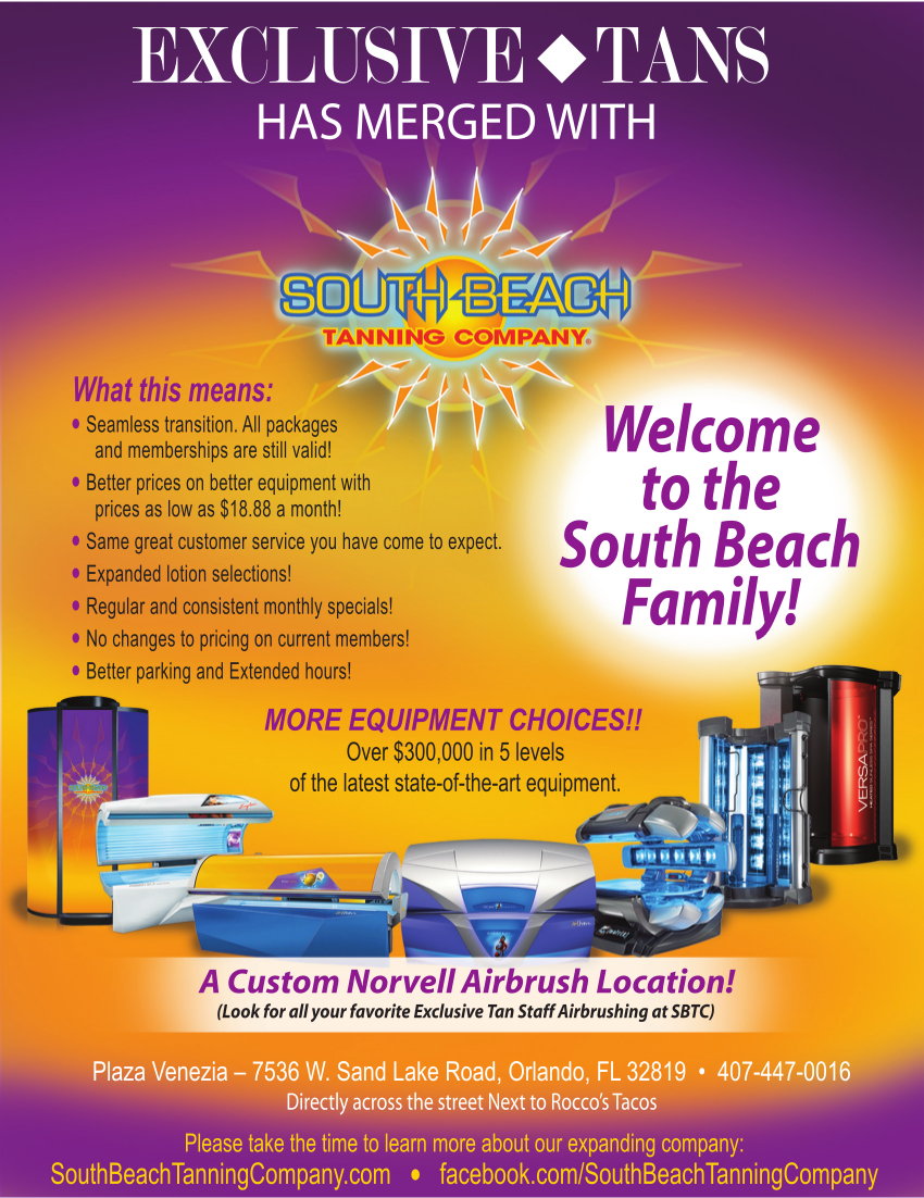 Tanism is now South Beach Tanning Company